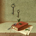 Still Life With A Small Book by Victor Sap