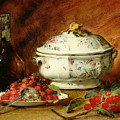 Still Life With A Soup Tureen by Guillaume Romain Fouace