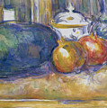 Still Life With A Watermelon And Pomegranates by Paul Cezanne