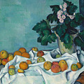 Still Life With Apples And A Pot Of Primroses, 1890 by Claude Monet