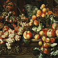 Still Life With Apples And Grapes by Michelangelo di Campidoglio