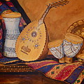 Still Life With Arabian Oud by Yvonne Ayoub