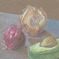 Still Life With Avacado by Kathy Mitchell