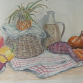 Still Life With Baby Pineapple by Geraldine Leahy