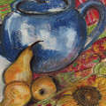 Still Life With Blue Teapot One by Susan Adams