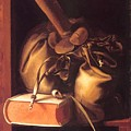 Still Life With Book And Purse by Dou Gerrit