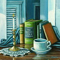 Still Life With Books by Colleen  Maas-Pastore