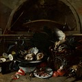 Still Life With Bottles And Oysters by Celestial Images