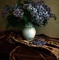 Still Life With Bouqet Of Fresh Lilac by Jaroslaw Blaminsky