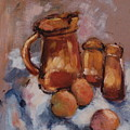 Still Life With Brown Pitcher by Ina Chomka