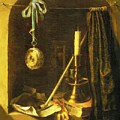 Still Life With Candle by Dou Gerrit