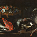 Still Life With Fish And Oysters  by Giovanni Battista Recco