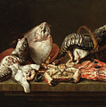Still Life With Fishes, A Crab And Oysters by Isaac van Duynen