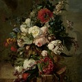 Still Life With Flowers, 1789 by Harmanus Uppink