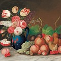 Still Life With Fruit And Flowers by William Buelow Gould