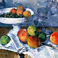 Still Life With Fruit Dish by Paul Cezanne