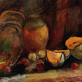 Still Life With Fruits And Pumpkin by Sveatoslav Zacon