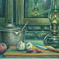 Still Life With Garlic by Colleen  Maas-Pastore