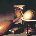 Still Life With Globe Lute And Books by Dou Gerrit