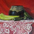 Still Life With Green Peppers by Keith Burgess