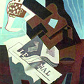 Still Life With Guitar, Book And Newspaper   by Juan Gris