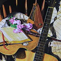 Still Life With Guitar by Reggie Rivera