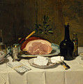 Still Life With Ham by Philippe Rousseau