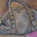 Still Life With Handbag And Notepad by I Gla