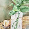 Still Life With Leaf by Kathy Mitchell