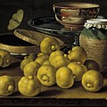 Still Life With Lemons And A Pot Of Honey by Luis Egidio Melendez