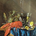 Still Life With Lobster 1655 by Cornelis De Heem