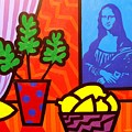 Still Life With Matisse And Mona Lisa by John  Nolan