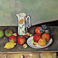 Still Life With Milkjug And Fruit by Paul Cezanne