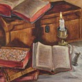 Still Life With Old Books by Eileen Bowling