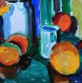 Still Life With Orange by Andrey Semionov