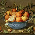 Still Life With Oranges And Lemons In A Wan-li Porcelain Dish  by Jacob van Hulsdonck