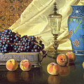 Still Life With Peaches by Edward Chalmers Leavitt