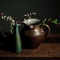 Still Life With Stoneware  by Nailia Schwarz