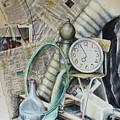 Still Life With The Newspapier by Dusia Helenka