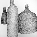 Still Life With Three Bottles by Michelle Calkins