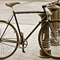 Still Life With Trek Bike In Sepia by Ben and Raisa Gertsberg