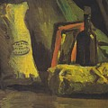 Still Life With Two Bags And Bottle by Vincent Van Gogh