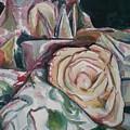 Still Life With Yellow  Rose by Aleksandra Buha