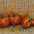 Still Life With Tomatoes by Rita Fetisov