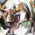 Stock Market Bull by John Jr Gholson