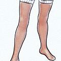 Stocking Legs Pop Art by Mary Bassett