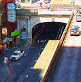 Stockton Street Tunnel In Heavy Shadow . Long Version by Wingsdomain Art and Photography