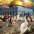 Stolen Light-dome Of The Rock Temple Mount by Robert Michaels