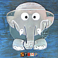 Stomp The Elephant Recycled License Plate Animal Art by Design Turnpike