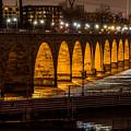 Stone Arch Bridge Night Shot by Paul Freidlund